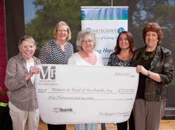 WIN Receives Grant from Musgrave Foundation
