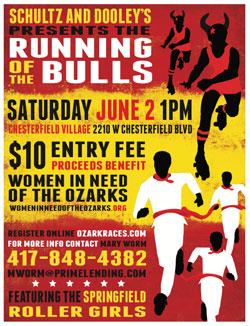 Running of the Bulls Fundraiser for WIN